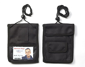 Credential wallet holder, front expanding Velcro Weather Resistant Pockets with Belt Loop