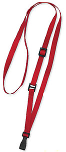 Lanyard, adjustable, flat MicroWeave, Break-Away, No-twist plastic hook, 3/8