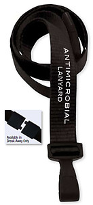 Lanyard, antimicrobial, break-away, 5/8