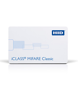 HID 2320 iCLASS 2k bit with 2 application areas + MIFARE 1K Memory with 16 Sectors, Contactless Smart Card