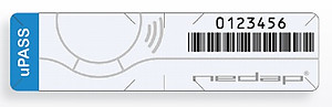 NEDAP 9946918 Gen 2 UHF  Windshield Sticker Tag, custom FC and number