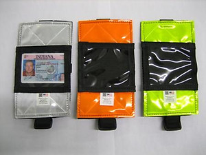 Reflective Arm Band Badge Holder, 3M Scotchlite High Visibility