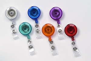 Round Translucent Color Badge Reels
