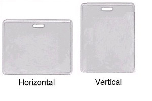 Proximity Card Badge Holder,Top Load, Vynil, Clear