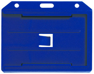 Colored Molded Rigid Plastic Two-Sided Multi-Card holder - Horizontal