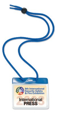 Color-Coded Badge Holder with Neck Cord, 100/pak