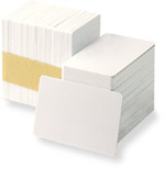 PVC card 30mil with signature panel strip, CR-80, 500/pack