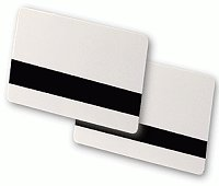 104523-813 Zebra HiCo Mag Stripe White PVC ID Cards, 30 Mil, Retransfer-Ready, 500 cards