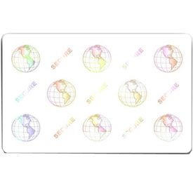 104524-120 Zebra white composite cards, 30 mil, World Globe (500 cards)