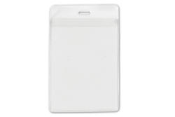 Clear Vinyl Vertical Holder with Front and Back Pockets, 3