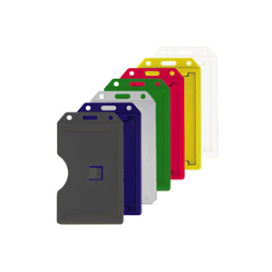 Color 2-Sided Rigid Plastic Multi-Card Holder - Vertical