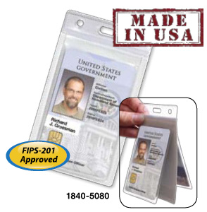 Vinyl RFID Shielded 2-Card Secure Badge Holder