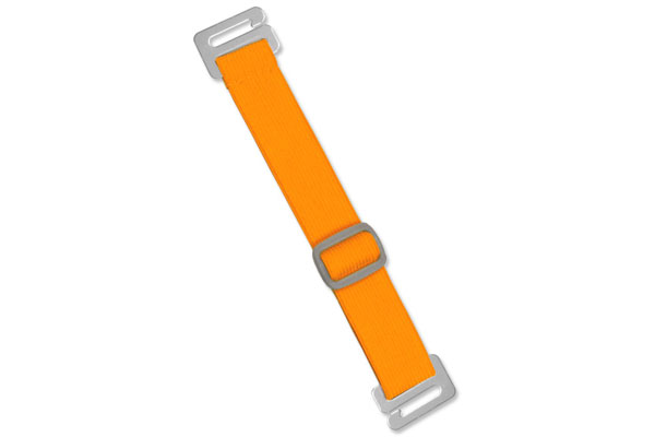 Anti-Microbial Neon Orange Adjustable Elastic Arm Band Strap