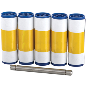 Magicard 3633-0054 Enduro Cleaning Rollers (5 sleeves, 1 roller bar)