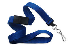 Lanyard, flat MicroWeave ribbed poliester, break-away, choice of attachment, 5/8