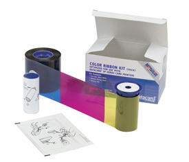 534000-113 Datacard YMCK Half Panel Color Ribbon & Cleaning Kit - 125 prints