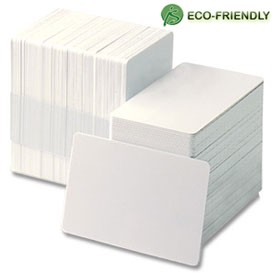 Plus-Card Bio 30 mil CR-80 biodegradable card, 500/pack