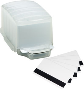 PC2 Magicard HiCo MagStripe PVC Cards in Dispenser - 50 Ct