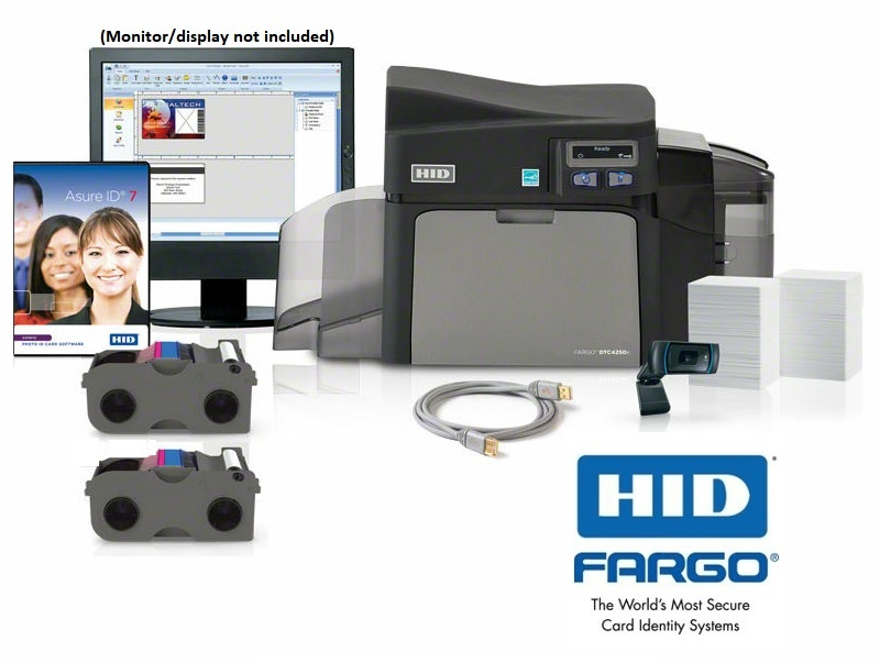 Fargo DTC4250e ID Card Printer Bundle - Single Sided