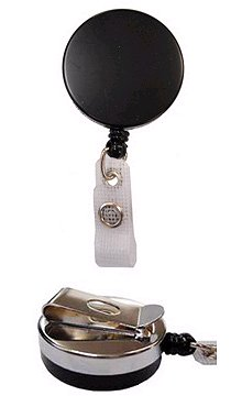 Heavy Duty Plastic/Metal Badge Reel - Chromed - Belt Clip