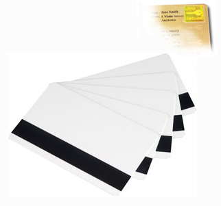 M3610-085 Magicard 30 Mil Gold HoloPatch PVC Cards w/HiCo MagStripe - 100 Qty