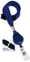 Lanyard, Badge Reel Combo, Clear vinyl strap, pack/100