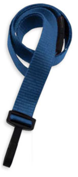 Lanyard, flat MicroWeave ribbed poliester, non break-away, choice of attachment, 5/8