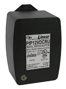 Linear IEI 12VDC 2A Plug-In Linear Power Supply, Grounded / Fused
