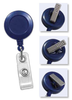 Round Badge Reels - Swivel Back - Clear Vinyl Strap