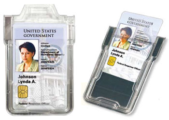 Secure Badge Holder Protects Against Id Theft Or Card Cloning